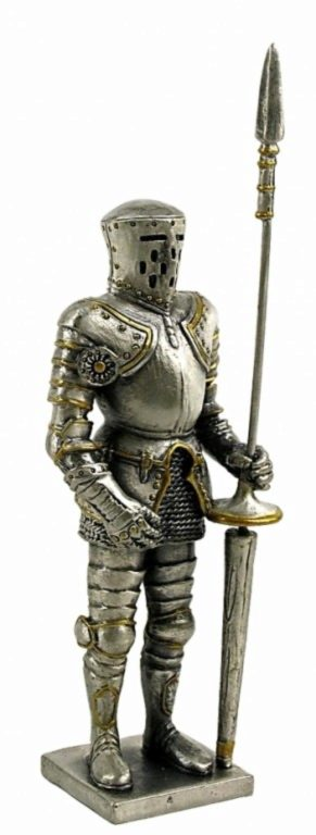Photo of Medieval Knight with Lance Pewter Figurine