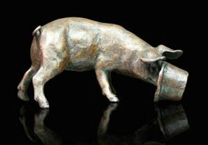 Photo of Pig Bronze Small Figurine (Limited Edition) Michael Simpson