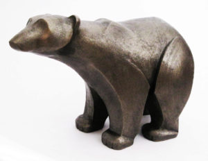 Photo of Polar Bear Standing Bronze Sculpture (Frith)