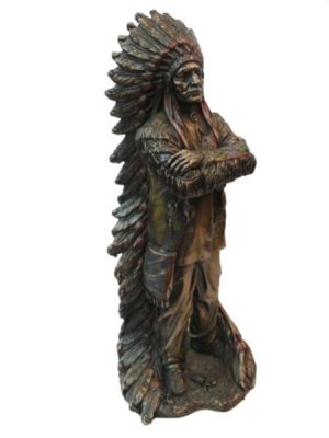 Photo of Proud Chief Bronze Figurine 30 cm