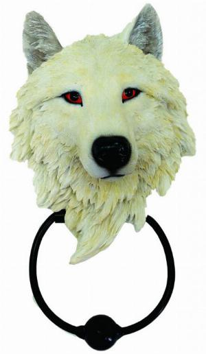 Photo of Snow Wolf Door Knocker