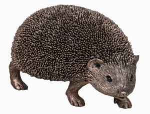 Photo of Snuffles Walking Hedgehog Bronze Sculpture (Thomas Meadows) 17cm