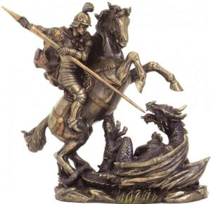 Photo of St George and the Dragon Bronze Figurine Medium
