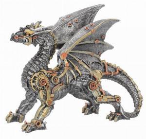 Photo of Steampunk Dragon Small Figurine 20cm