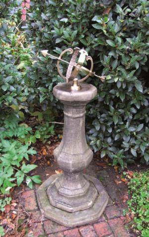 Photo of Stone Pedestal with Brass Armillary