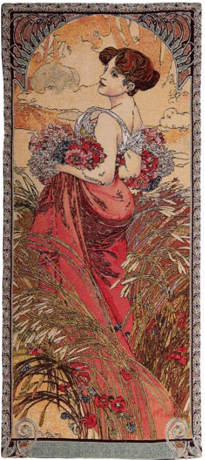 Phot of Summer By Mucha Wall Tapestry