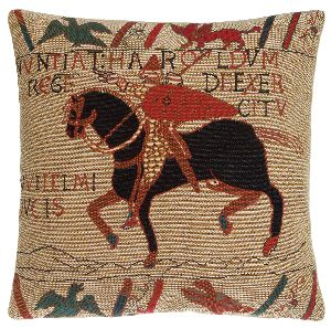 Phot of The Bayeux Tapestry Harolds Tapestry Cushion
