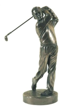 Photo of The Swing Golf Bronze Gold Sculpture