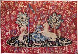 Phot of The View Medieval Wall Tapestry
