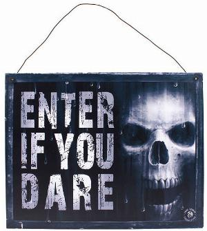 Photo of The Watcher Metal Sign Enter if You Dare 24 cm Anne Stokes