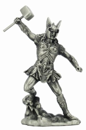 Photo of Thor with Hammer Pewter Figurine