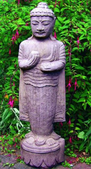 Photo of Upright Buddha Stone Statue