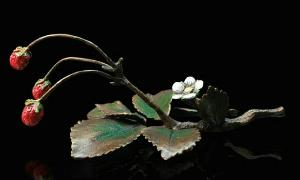 Photo of Wild Strawberries Bronze Sculpture (Limited Edition) Keith Sherwin Nature Trail