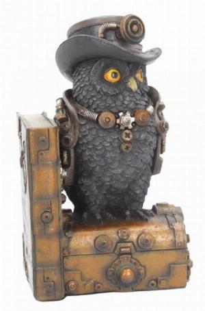 Photo of Augmented Wisdom Steampunk Owl Bookend Figurine
