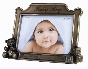 Photo of Baby Boy Bronze Frame