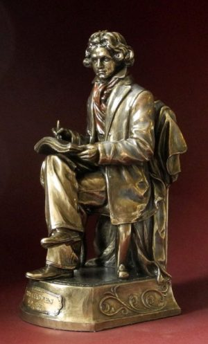 Photo of Beethoven Bronze Figurine