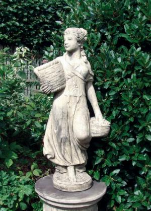 Photo of Country Girl (Medium) Stone Statue