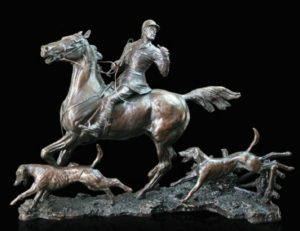 Photo of Doubling the Horn Solid Bronze Hunting Figurine (Limited Edition) David Geenty