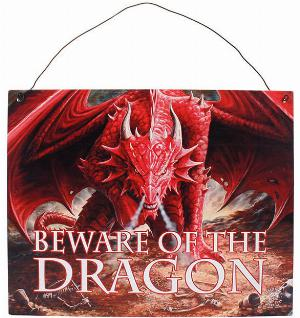 Photo of Dragon Lair Metal Sign Beware of the Dragon 24 cm Anne Stokes
