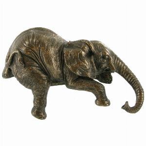 Photo of Elephant Shelf Sitter Bronze Sculpture Small