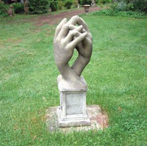 Photo of Entwined Hands Stone Sculpture