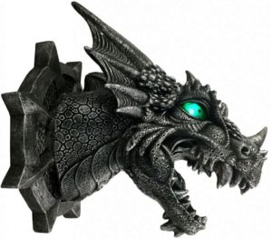 Photo of Ferox Dragon Wall Plaque Light Feature 20cm
