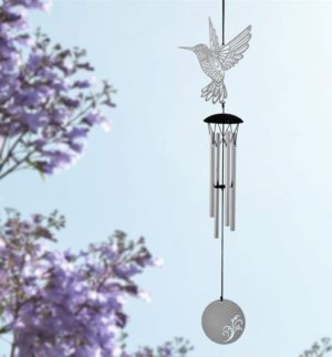 Photo of Flourish Chime Hummingbird Wind Chime (Woodstock)