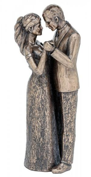 Photo of Forever Love Couple Bronze Figurine