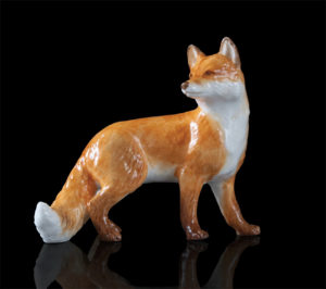 Photo of Fox Hand Painted Fine Bone China Miniature Figurine