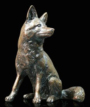 Photo of Fox Sitting Bronze Figurine (Limited Edition) Keith Sherwin