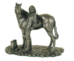 Photo of Girl and Pony Bronze Ornament