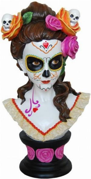 Photo of Gothic Beauty Bust Catrina Figurine 40 cm