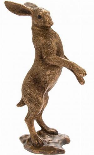 Photo of Hare Standing Bronze Figurine Leonardo Collection
