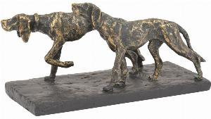 Photo of Hunting Dogs Antique Bronze Finish Figurine