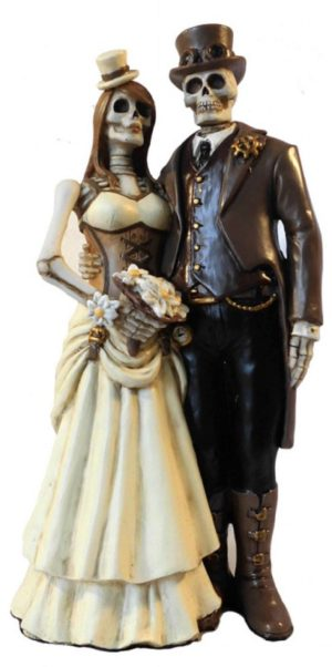 Photo of I Do Skeleton Wedding Figurine