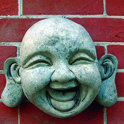Photo of Jolly Buddha Stone Plaque