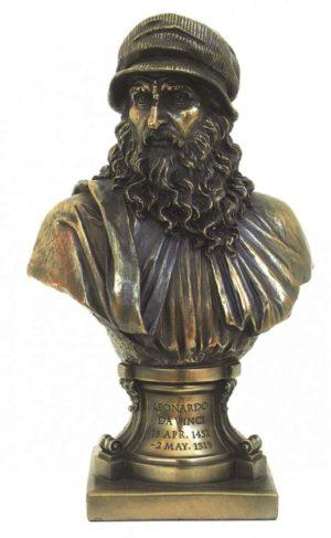 Photo of Leonardo da Vinci Bronze Figurine Bust