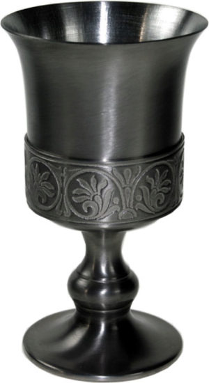 Photo of Medieval Pewter Goblet 15 cm