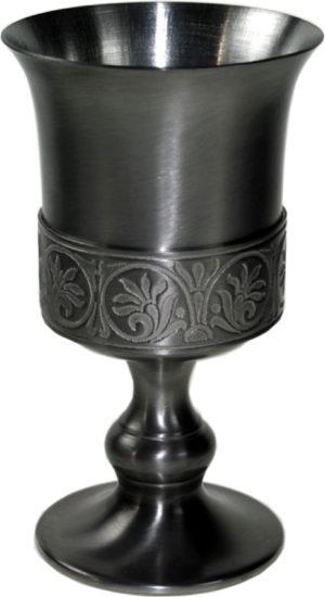 Photo of Medieval Pewter Goblet 15 cm