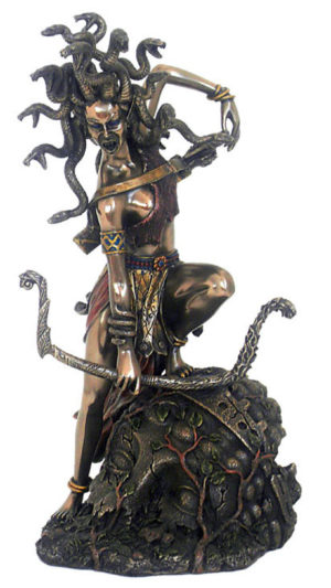 Photo of Medusa Bronze Figurine 27 cm