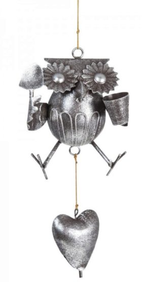 Photo of Metal Gardening Owl Mobile