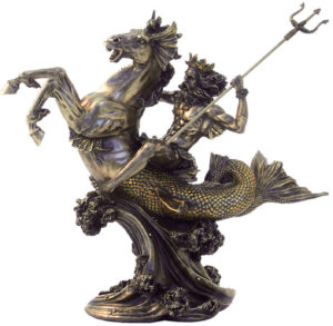 Photo of Poseidon God of the Sea Bronze Figurine 31 cm