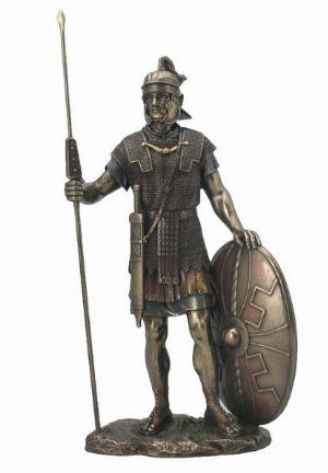 Photo of Roman Soldier Bronze Figurine 35 cm