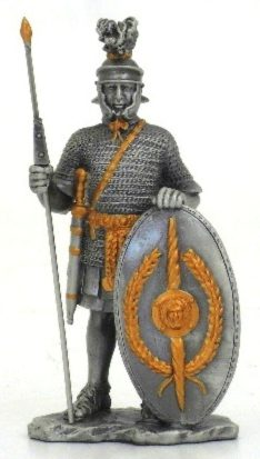 Photo of Roman with Shield Pewter Figurine