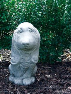 Photo of Small Basset Dog Stone Ornament