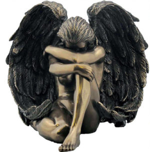 Photo of Sorrowful Angel Bronze Figurine