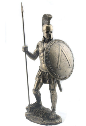 Photo of Spartan Warrior Bronze Figurine 36 cm