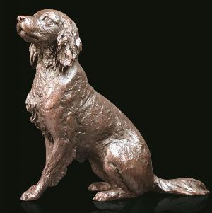 Photo of Springer Spaniel Sitting Bronze Figurine (Limited Edition) Michael Simpson