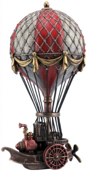 Photo of Steampunk Air Ship Bronze Figurine 24.5cm