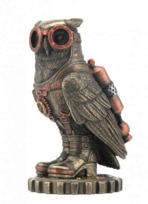 Photo of Steampunk Owl Bronze Small Figurine